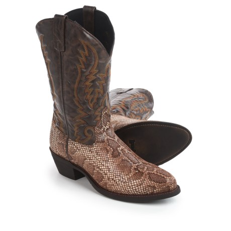 "Laredo Snake Print Cowboy Boots - 12"" (For Men) in Brown"