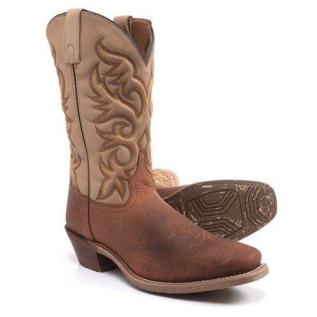 "Laredo Stormer Cowboy Boots - 12"", Square Toe (For Men) in Rust"