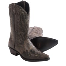 Laredo Thompson Cowboy Boots - Leather, Snip Toe (For Men) in Black/Tan - Closeouts