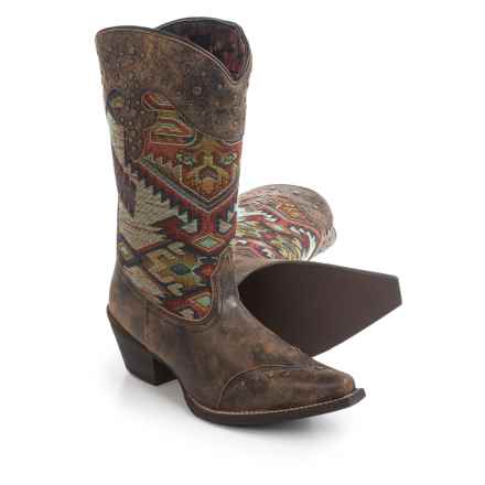 Laredo Tribal Print Cowboy Boots - Leather, Snip Toe (For Women) in Tan - Closeouts