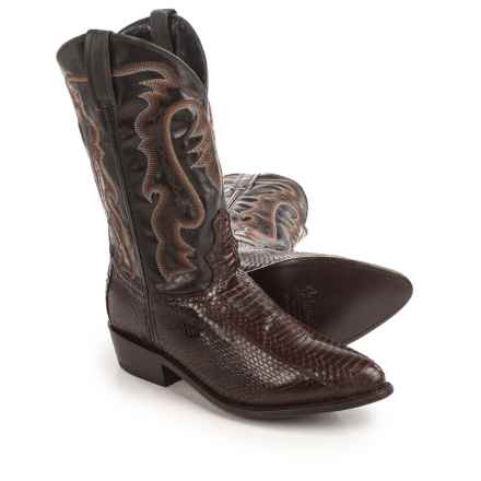 "Laredo Water Snake Cowboy Boots - 12"", Point Toe (For Men) in Tobacco - Closeouts"