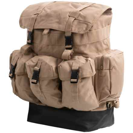 Large Utility 42L Backpack in Tan - Closeouts