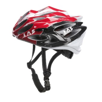 LAS Squalo Bike Helmet in Red/White/Carbon