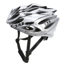 LAS Squalo Bike Helmet in White/Carbon/Silver - Closeouts
