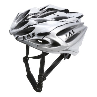 LAS Squalo Bike Helmet in White/Carbon/Silver