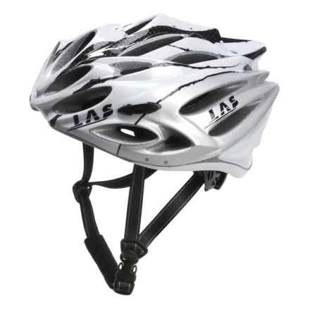 LAS Squalo Bike Helmet in White/Carbon/Silver - Closeouts