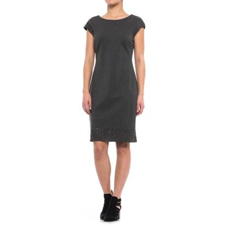 Laser-Cut Sheath Dress - Sleeveless (For Women)