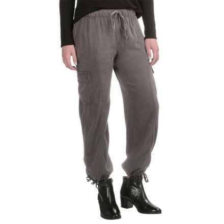 L'atelier Drawstring Cargo Pants (For Women) in Grey - Closeouts