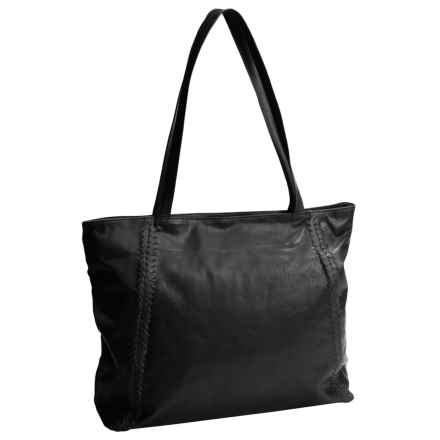 Latico Braided Leather Tote Bag (For Women) in Black - Closeouts