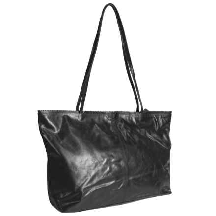 Latico East West Shopping Tote Bag - Leather in Espresso - Closeouts