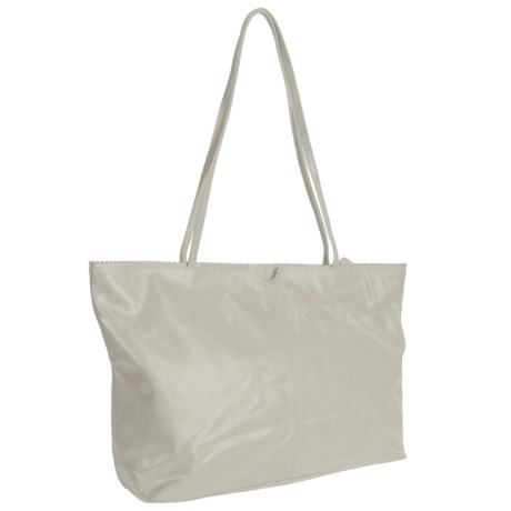 Latico East West Shopping Tote Bag - Leather in Stone