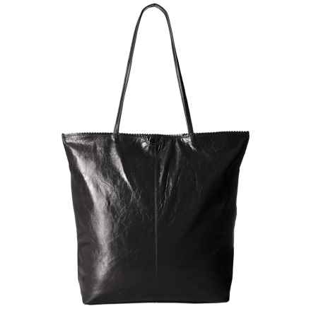 Latico North South Leather Tote Bag (For Women) in Black - Closeouts