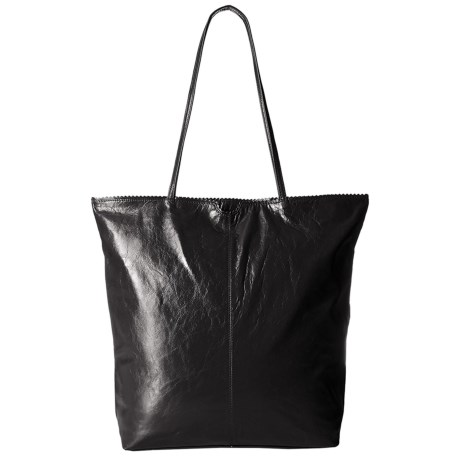Latico North South Leather Tote Bag (For Women) in Black