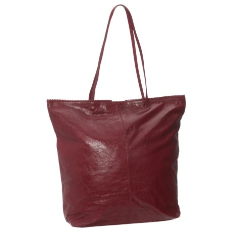 Latico North South Leather Tote Bag (For Women) in Red