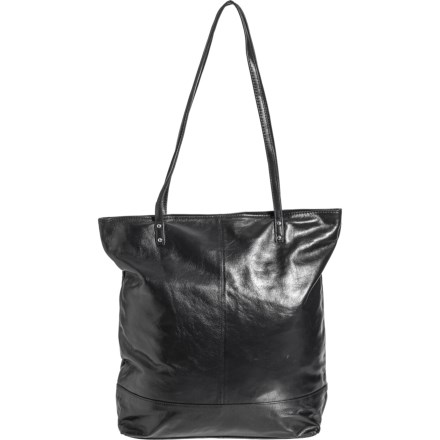 c8c0aa772a2 Latico Rivet Detailed North-South Tote Bag - Leather (For Women) in Black