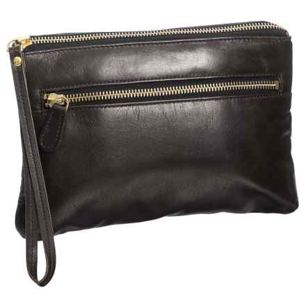 Latico Sheepskin Clutch - Leather (For Women) in Espresso - Closeouts