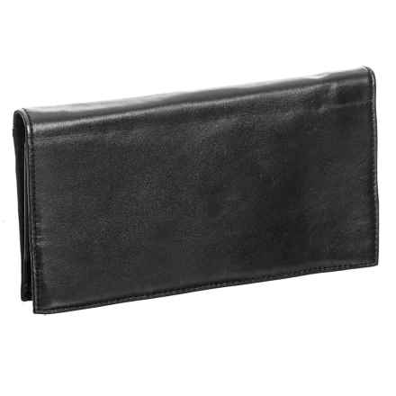 Latico Simple Sheepskin Leather Wallet (For Women) in Black - Closeouts