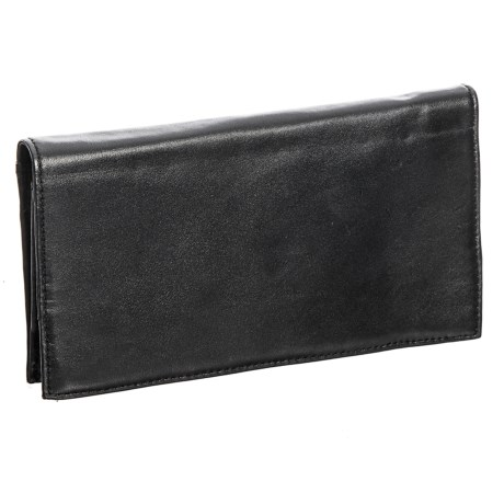 Latico Simple Sheepskin Leather Wallet (For Women) in Black