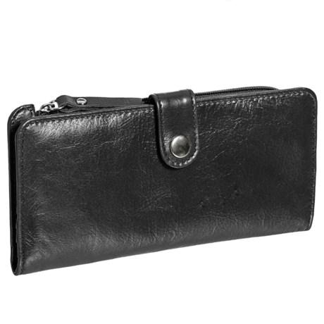 Latico SLG Zip-Around Wallet (For Women) in Black