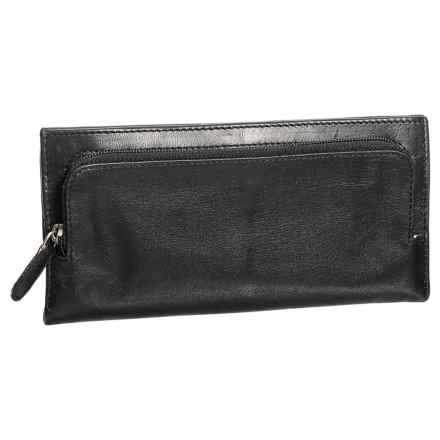 Latico Trifold Sheepskin Leather Wallet (For Women) in Black - Closeouts