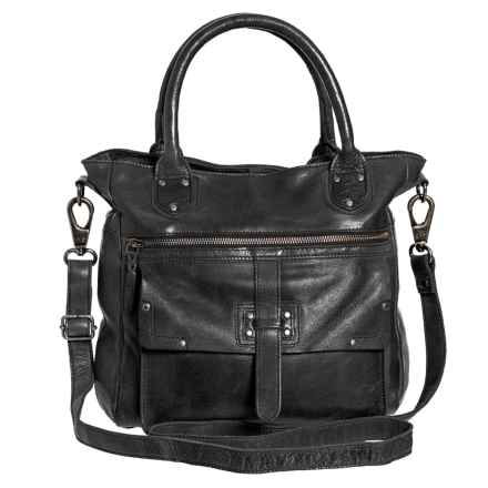 Latico Walker Shoulder Bag - Leather (For Women) in Black - Closeouts