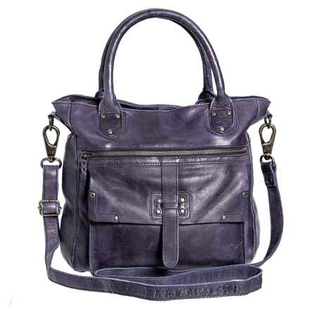 Latico Walker Shoulder Bag - Leather (For Women) in Iris - Closeouts