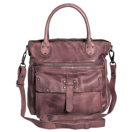Latico Walker Shoulder Bag - Leather (For Women) in Taupe - Closeouts