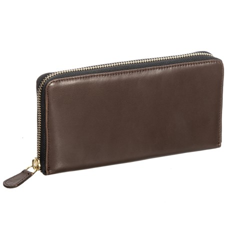Latico Zip Around Wallet - Leather (For Women) in Café
