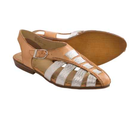 Latigo Jeepers Sandals - Leather (For Women) in Silver - Closeouts