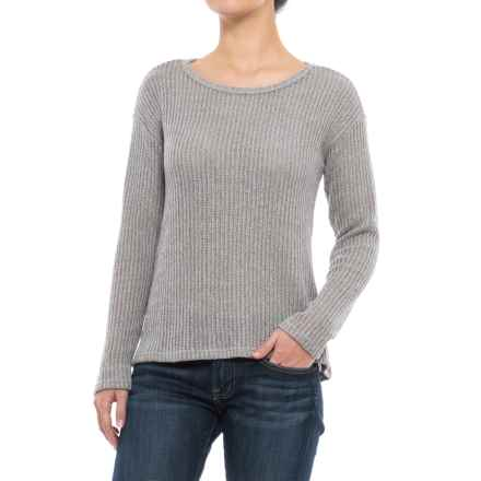Lattice-Back Sweater (For Women) in Grey - 2nds