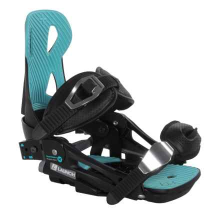 Launch Snowboards V2 Beyond Series Snowboard Binding in Black/Blue - Closeouts