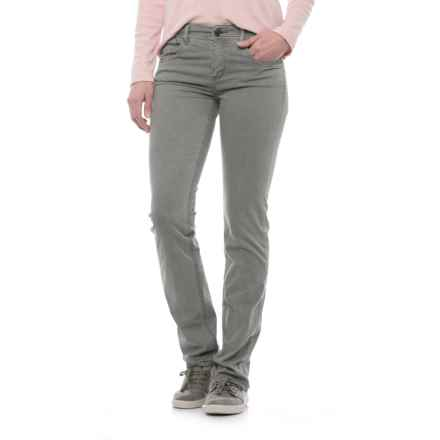 Laundered Stretch Twill Pants (For Women) in Light Grey - 2nds
