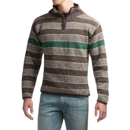 Laundromat Cambridge Sweater - Zip Neck (For Men) in Emerald - Closeouts
