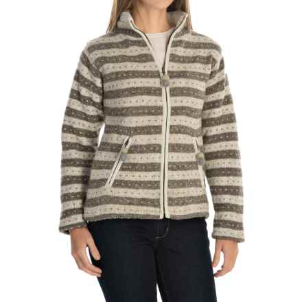 Laundromat Heidi Fleece-Lined Sweater (For Women) in Medium Natural - Closeouts