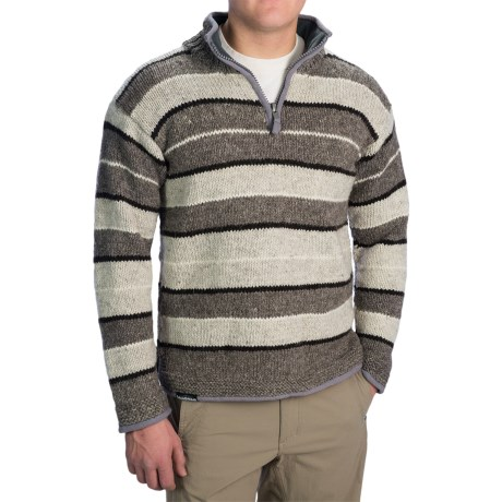 Mens Heavy Sweaters Heavy Wool Sweater With