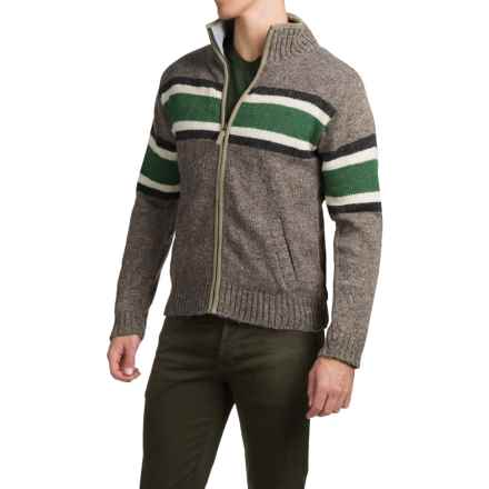 Laundromat Sidney Cotton-Lined Sweater - Front Zip (For Men) in Medium Natural - Closeouts