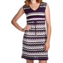 Laundry by Design Cotton Sweater Dress - Sleeveless (For Women) in Boysenberry Multi - Closeouts