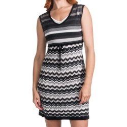 Laundry by Design Cotton Sweater Dress - Sleeveless (For Women) in Dark Charcoal Multi