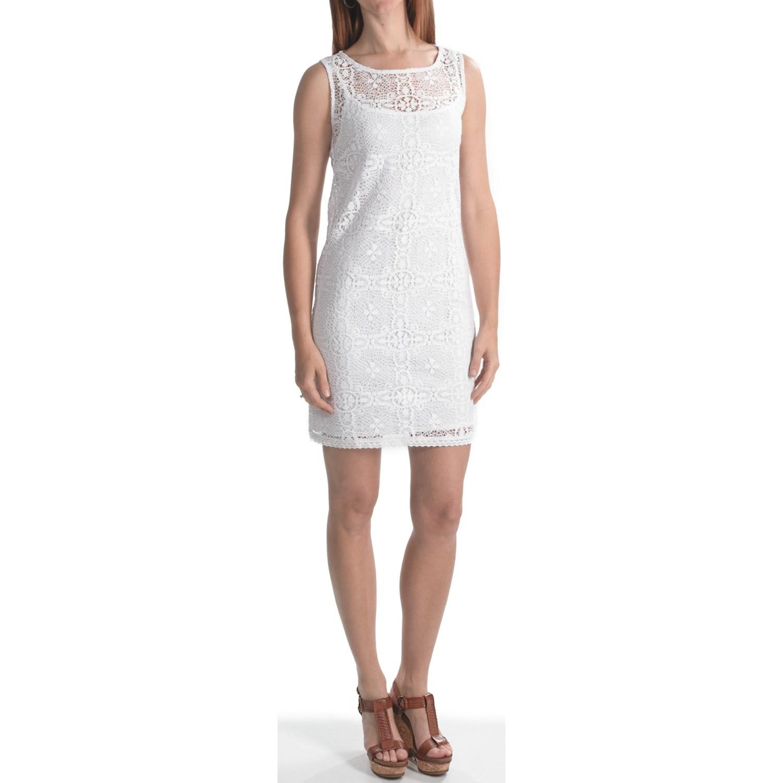 Laundry By Design Crochet Lace Sheath Dress Sleeveless