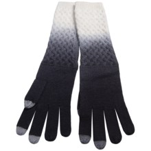 Laundry by Design Dip-Dye Wool Gloves - Touchscreen Compatible (For Women) in Black/Warm White - Closeouts