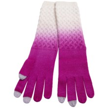 Laundry by Design Dip-Dye Wool Gloves - Touchscreen Compatible (For Women) in Jazberry/Warm White - Closeouts