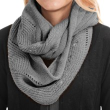 Laundry by Design Embellished Cable Infinity Scarf (For Women) in Medium Heather Gray/Silver Studs - Closeouts