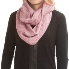 Laundry by Design Embellished Cable Infinity Scarf (For Women) in Winter Rose/Rose Gold Studs - Closeouts