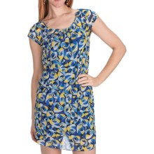 Laundry by Design Geo-Rama Chiffon Blouson Dress - Short Sleeve (For Women) in Tide Pool Multi - Closeouts