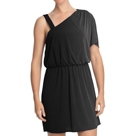 Laundry by Design Jersey Blouson Dress - Short Sleeve (For Women) in Black