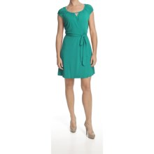 Laundry by Design Jersey Wrap Dress - Short Sleeve (For Women) in Ocean Breeze - Closeouts