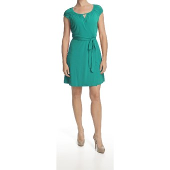 Laundry by Design Jersey Wrap Dress - Short Sleeve (For Women) in Ocean Breeze