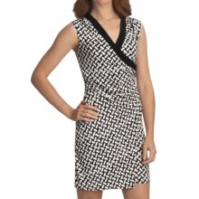 Laundry by Design Jersey Wrap Dress - Sleeveless (For Women) in Black/Optic White - Closeouts