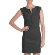 Laundry by Design Lace Trim Dress - Short Sleeve (For Women) in Black - Closeouts