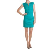 Laundry by Design Lace Trim Dress - Short Sleeve (For Women) in Bliss - Closeouts